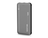 PROMATE CROWN-10C Li-Polymer Power Bank 10000mAh sivi