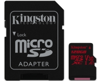 KINGSTON UHS-I U3 MicroSDXC 128GB V30+ Adapter SDCR/128GB React