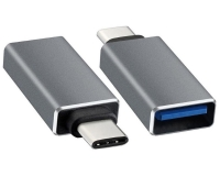 E-GREEN Adapter USB tip C - USB 3.0 M/F crni