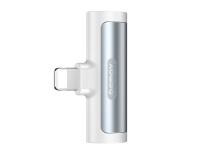 REMAX Kabl RL-LA03i 2u1 iPhone - Audio 3,5mm adapter bijeli