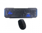 WB-8099  Gaming Wireless USB + Wireless crni miš