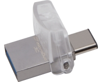 KINGSTON 64GB DataTraveler MicroDuo 3C USB 3.1 flash DTDUO3C/64GB srebrni